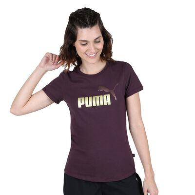 Remera Puma Essentials Metallic Logo Adp