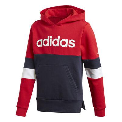 Buzo adidas Linear Colorblock Hooded Fleece