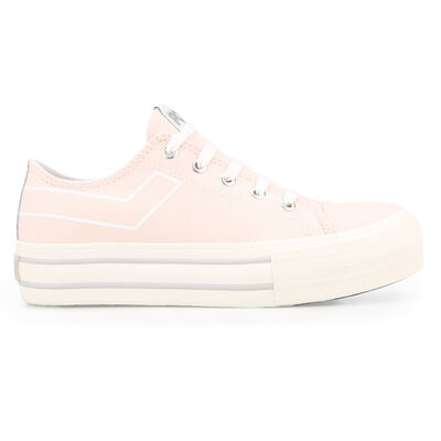 Zapatillas Pony Plataform Classic Ox Canvas Nude